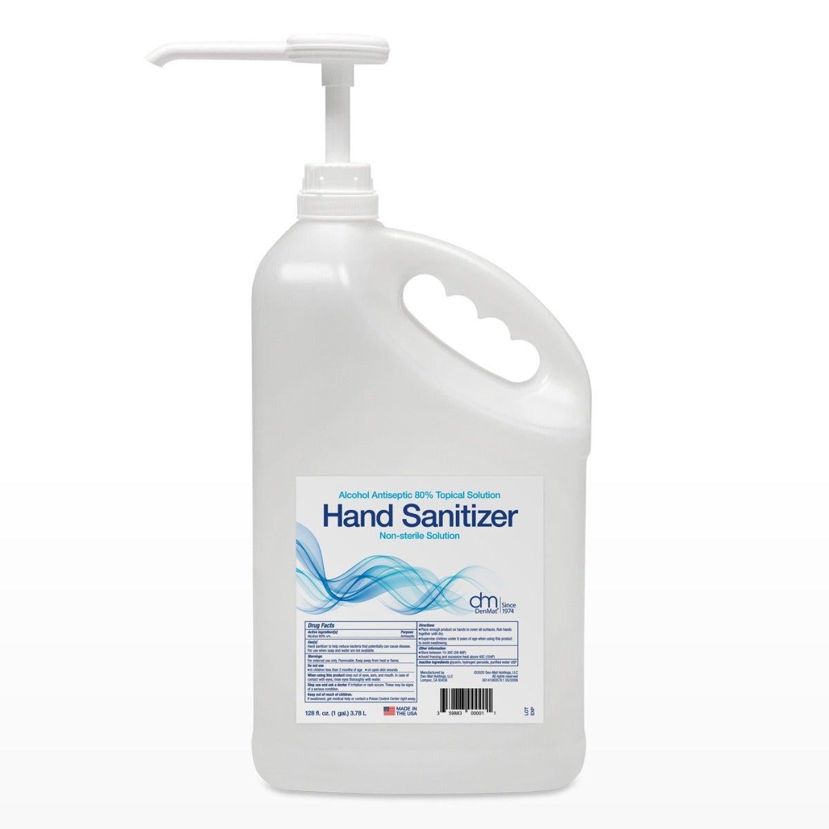 Liquid Hand Sanitizer Denatured Alcohol Antiseptic 80% Solution 128oz