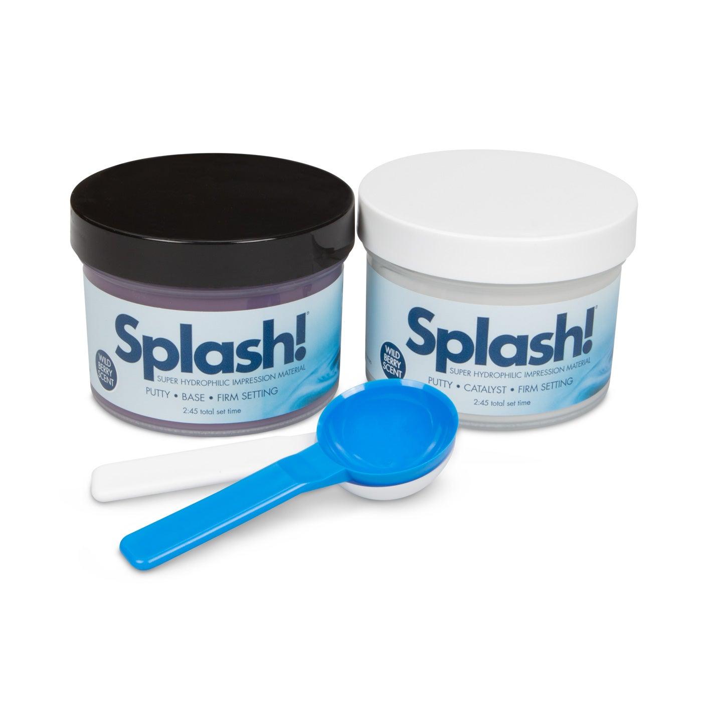 Dental Impression - Splash Half Set Time Putty Jars