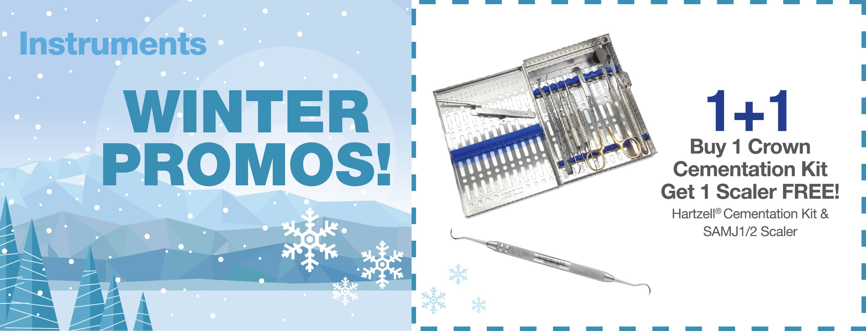 Dental Instruments - Buy Crown Cementation Kit, Get a Free Scaler!